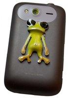 Наклейка со стразами лягушка в очках