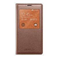 Чехол с окошком S View Cover Bronze для Samsung Galaxy S5 i9600 бронзовый
