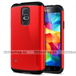 Защитный чехол накладка SLIM ARMOR Case Red для Samsung Galaxy S5 красный