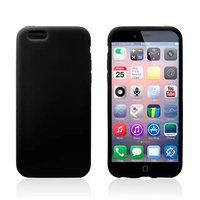 Тонкий силиконовый чехол для iPhone 6 / 6s черный - Thin TPU Silicone Case Black