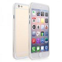 """Бампер для iPhone 6 (4.7"""") белый с прозрачной полосой"""