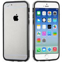 """Бампер для iPhone 6 / 6s (4.7"""") черный с прозрачной полосой"""