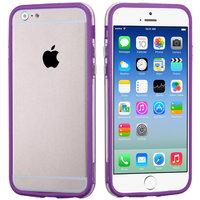 """Бампер для iPhone 6 (4.7"""") фиолетовый с прозрачной полосой"""