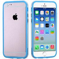 """Бампер для iPhone 6 (4.7"""") голубой с прозрачной полосой"""