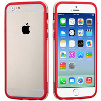 """Бампер для iPhone 6 (4.7"""") красный с прозрачной полосой"""