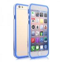 """Бампер для iPhone 6 (4.7"""") синий с прозрачной полосой"""