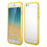 """Бампер для iPhone 6 (4.7"""") желтый с прозрачной полосой"""