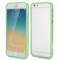 """Бампер для iPhone 6 (4.7"""") зеленый с прозрачной полосой"""
