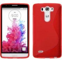 Красный силиконовый чехол S Line Case для LG G3 s / mini