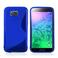 Синий силиконовый чехол для Samsung Galaxy Alpha - S Type Silicone Case Blue