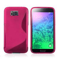 Розовый силиконовый чехол для Samsung Galaxy Alpha - S Type Silicone Case Pink