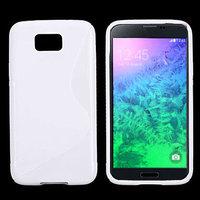 Белый силиконовый чехол для Samsung Galaxy Alpha - S Type Silicone Case White