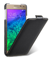 Черный кожаный чехол для Samsung Galaxy Alpha - Melkco Leather Jacka Type Black LC