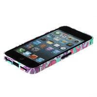 Металлический белый бампер Fashion Case для iPhone 5s / SE / 5 с фиолетово-бирюзовым узором