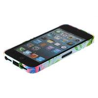Металлический белый бампер Fashion Case для iPhone 5s / SE / 5 с узором цветы