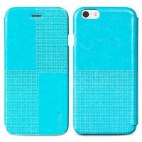 """Кожаный чехол книжка HOCO для iPhone 6 / 6s (4.7"""") голубой - HOCO Crystal Retro Case Blue"""