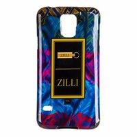 Силиконовый чехол Zilli для Samsung Galaxy S5 i9600 с рисунком синяя и красная ткань с узором