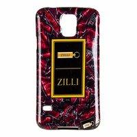 Силиконовый чехол Zilli для Samsung Galaxy S5 i9600 с рисунком рубиновая ткань