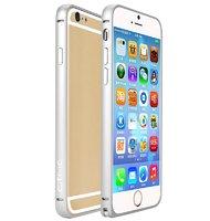 Алюминиевый бампер для iPhone 6 с защелкой серебряный