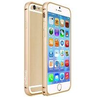 """Алюминиевый бампер для iPhone 6 (4.7"""") с защелкой золотой"""