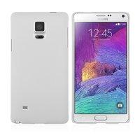 Белый пластиковый чехол накладка для Samsung Galaxy Note 4 - Soft Touch Hard Plastic Case White
