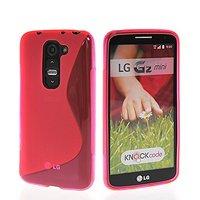 Розовый силиконовый чехол S Line Case для LG G2 mini