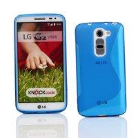 Голубой силиконовый чехол S Line Case для LG G2 mini