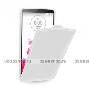 Белый чехол флип Art Case White Flip Case для LG G3