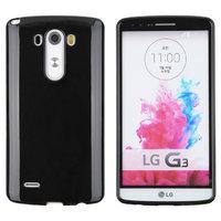Черный глянцевый силиконовый чехол для LG G3