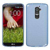 Прозрачный силиконовый чехол чехол для LG G2 mini голубой - Transparent Silicone Cover - Blue