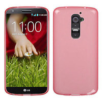 Прозрачный силиконовый чехол чехол для LG G2 mini красный - Transparent Silicone Cover - Red