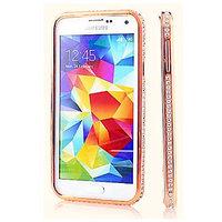 Красное золото алюминевый бампер со стразами для Samsung Galaxy S5