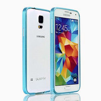 Голубой алюминевый бампер для Samsung Galaxy S5 - 0.7mm Ultra Thin Aluminum Bumper - Sky Blue