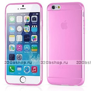 """Розовый прозрачный силиконовый чехол для iPhone 6 Plus / 6s Plus (5.5"""")"""
