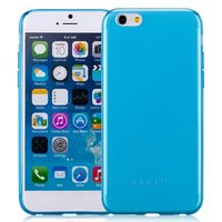 """Прозрачный голубой силиконовый чехол для iPhone 7 Plus / 8 Plus (5.5"""")"""