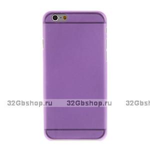 "Ультратонкий чехол для iPhone 6 Plus / 6s Plus (5.5"") фиолетовый - Ultra Thin Purple TPU Case"