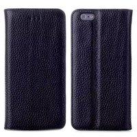 "Чехол книжка для iPhone 6 Plus / 6s Plus (5.5"") черный - Lychee Leather Wallet Book Case"