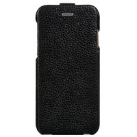 "Кожаный флип чехол для iPhone 6 Plus / 6s Plus (5.5"") черный - HOCO Premium Flip Genuine Leather Case"