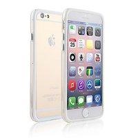 """Пластиковый бампер для iPhone 6 Plus (5.5"""") белый с прозрачной вставкой"""