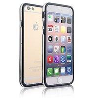 """Пластиковый бампер для iPhone 6 Plus (5.5"""") черный с прозрачной вставкой"""