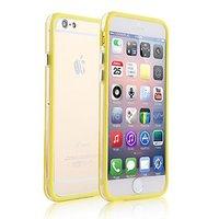 """Пластиковый бампер для iPhone 6 Plus (5.5"""") желтый с прозрачной вставкой"""
