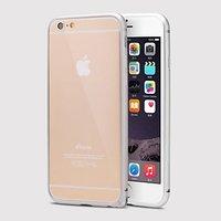 Серебряный алюминиевый бампер для iPhone 6 Plus