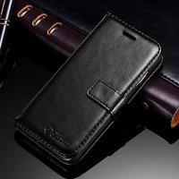 Чехол книжка для iPhone 6 Plus / 6s Plus черный - Crazy Horse Book Case Black