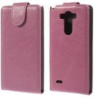 Розовый флип чехол для LG Optimus G3 S / mini эко кожа - Crazy Horse Grain Eco Leather Flip Case Pink