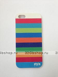 Чехол-накладка для iPhone 5 / 5s / SE полосы