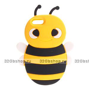 Накладка Bee 3D Silicone Case Yellow&Black для iPhone 5 / 5s / SE пчела желтая