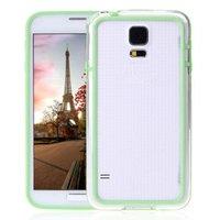 Зеленый бампер для Samsung Galaxy S5 mini с прозрачной вставкой