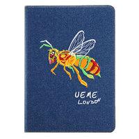 Джинсовый чехол для iPad Air с вышивкой пчела - UEME Bee Jeans Smart Case