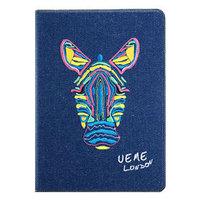 Джинсовый чехол для iPad Air с вышивкой зебра - UEME Zebra Jeans Smart Case
