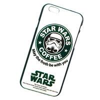"Белый пластиковый чехол для iPhone 6 / 6s (4.7"") звездные войны кофе - Star Wars Coffee Plastic Case White"